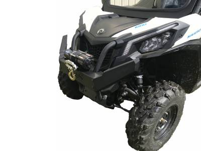 Extreme Metal Products, LLC - Can-Am Maverick Trail Front Brush Guard/Winch Mount