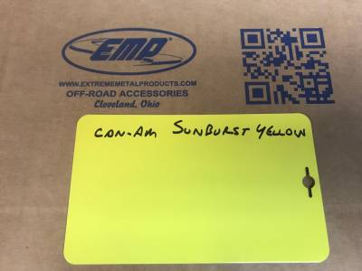 Extreme Metal Products, LLC - Can-Am Sunburst Yellow Powder Coat (raw material to powder coat parts) Matches Can-Am Sunburst Yellow