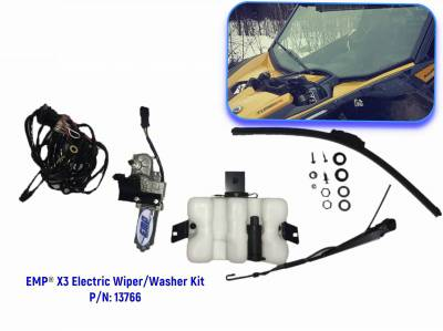 Extreme Metal Products, LLC - Can-Am Maverick X3 Electric Wiper and Washer Kit (Lower Mount)