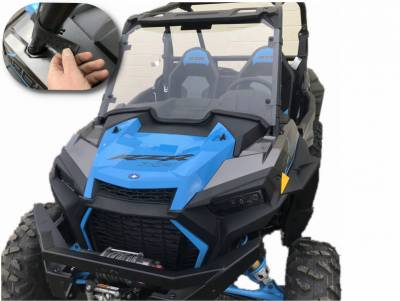 Extreme Metal Products, LLC - 2019 RZR Windshield for RZR Turbo and RZR XP1000 - Image 1