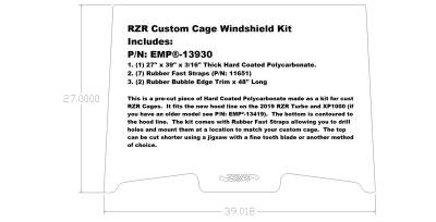 RZR Custom Cage Windshield 13930