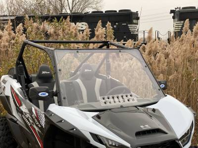 Extreme Metal Products, LLC - Teryx KRX 1000 Windshield with vent (Hard Caoted on Both Sides) - Image 1