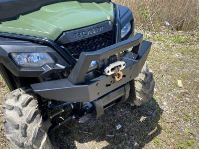 Extreme Metal Products, LLC - Honda Pioneer Front Brush Guard with Winch Mount - Image 1