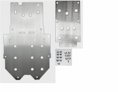 Extreme Metal Products, LLC - Honda Pioneer 500 Belly Skid Plates (aluminum set of two) - Image 1