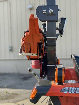 Extreme Metal Products, LLC - Tractor Chainsaw Rack for ROPS - Image 1