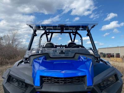 Extreme Metal Products, LLC - Turbo S Hard Coated Flip Up Windshield - Image 1