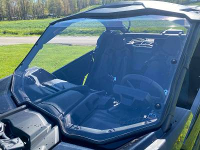 Extreme Metal Products, LLC - Can-Am Maverick X3 Hard Coated Windshield w/Fast Straps - Image 1