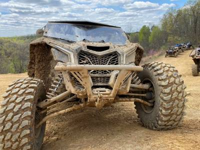 """Extreme Metal Products, LLC - Can-Am Maverick X3 """"BALLISTIC"""" Front Bumper with Winch Mount - Image 1"""