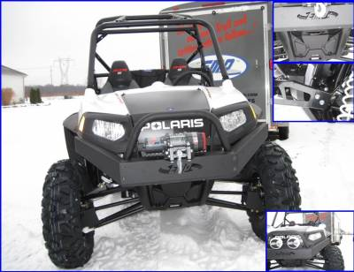 Extreme Metal Products, LLC - RZR Extreme Front Bumper / Brush Guard with Winch Mount - Image 1