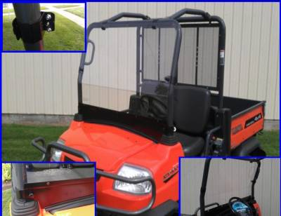 Extreme Metal Products, LLC - Kubota RTV900 Full Windshield