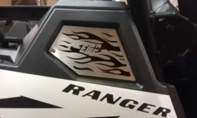Extreme Metal Products, LLC - RZR XP900 Side Intake Vents with Flames