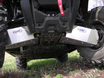 Extreme Metal Products, LLC - RZR 570 Front CV Boot / A-Arm Guards - Aluminum - Image 1