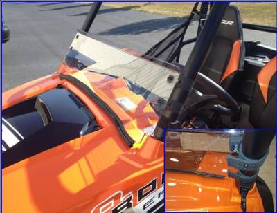 Extreme Metal Products, LLC - RZR Half Windshield / Wind Deflector (Hard Coated-both sides) - Image 1