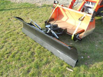 Extreme Metal Products, LLC - Compact Tractor Front Loader Snow Plow - Image 1