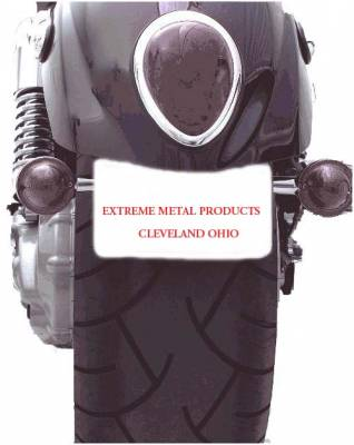 Extreme Metal Products, LLC - Triumph Rockit III - License Plate Bracket