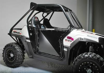 Extreme Metal Products, LLC - RZR ProArmor Sheet Metal Doors -  BLACK WITHOUT CUT OUTS - Image 1