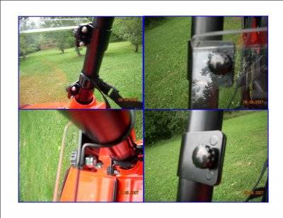 UTV Quick Connect Windshield Clamp - 1-7/8""
