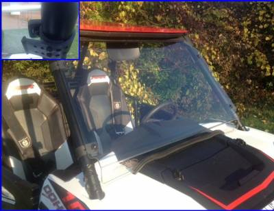 Extreme Metal Products, LLC - 2014-18 RZR XP1000, 2015-18 RZR 900, and 2016-18 RZR-S 1000 Hard Coat Full Windshield