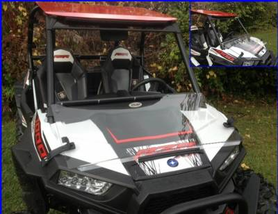 Extreme Metal Products, LLC - RZR XP1000 (XP1K) and  RZR 900 Flip Down Hard Coat Windshield - Image 1