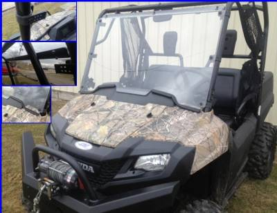 Extreme Metal Products, LLC - Pioneer 700 Hard Coated Full Windshield - Image 1
