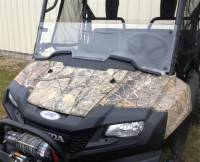Extreme Metal Products, LLC - Pioneer 700 Half Windshield with Fast Straps - Image 1