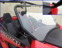 "Extreme Metal Products, LLC - Wildcat Trail (50"" Wide) and Wildcat Sport Hard Coated Polycarbonate Full Windshield - Image 1"