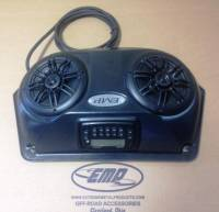 Slim UTV Overhead Stereo Pods with stereo and wiring