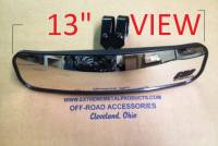 "13"" Wide Panoramic Rear view Mirror for 1-1/2-1-5/8"" Bars (Pioneer, Big Red, Viking, XYZ, Wolverine and ACE)"