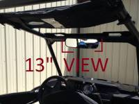 "Kawasaki - Mule PRO-FX/FXT - Extreme Metal Products, LLC - 13"" Wide Panoramic Rear view Mirror for 1-3/4""-1-7/8"" Round Cages"