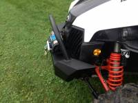 Extreme Metal Products, LLC - Maverick Front Bumper/ Brush Guard with Winch Mount with LED Lights - Image 2