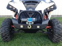Extreme Metal Products, LLC - Maverick Front Bumper/ Brush Guard with Winch Mount with LED Lights - Image 3
