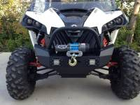 Extreme Metal Products, LLC - Maverick Front Bumper/ Brush Guard with Winch Mount with LED Lights - Image 4