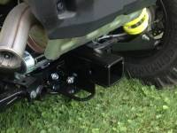 "Polaris - RZR® 900 - Extreme Metal Products, LLC - 2015-18 RZR 900 and 2016-18 RZR-S 1000 Rear 2"" Square Receiver Hitch"