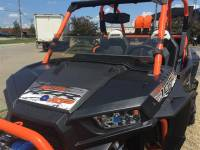 Extreme Metal Products, LLC - Tinted Hard Coated -RZR XP1K and 2015-18 RZR 900 Half Windshield/ Wind Deflector - Image 3