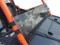 Polaris - RZR® XP1000 - 4  - Extreme Metal Products, LLC - Tinted Hard Coated -RZR XP1K and 2015-18 RZR 900 Half Windshield/ Wind Deflector