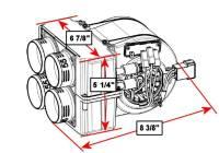 Underhood Cab Heater for 2015-17 RZR 900 (RZR Heater)