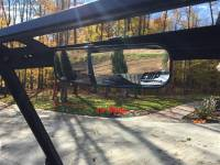2015-18 Mid-Size Polaris Ranger and Ranger XP1000 Panoramic Mirror (for Pro-Fit cage with Mirror Tab pictured)