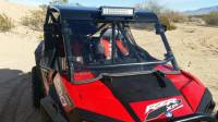 Polaris - RZR® XP1000 - 4  - Extreme Metal Products, LLC - RZR Windshield for PRO-ARMOR After Market Cages