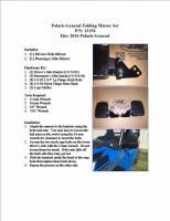 Extreme Metal Products, LLC - Polaris General Folding Mirror Set - Image 6