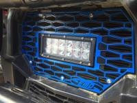 Polaris - RZR® S 1000 - Extreme Metal Products, LLC - Polaris RZR Grill with LED Light Bar