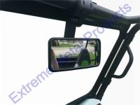 "Honda - Big Red - Extreme Metal Products, LLC - Smack Back Buggy Mirror-Rectangle 8"" x 4"""