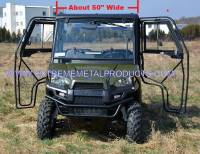 "Polaris - RANGER®  - Mid Size - Extreme Metal Products, LLC - Polaris Mid-Size/2 Seat Ranger Doors (fits: 50"" wide models with Pro-Fit Cage)"