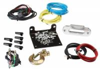 UTV Winch with Synthetic Rope-Black