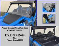 Polaris - GENERAL™ 1000 EPS - Extreme Metal Products, LLC - Polaris General Windshield & Cab Back Combo