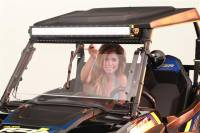 Can-Am - Maverick MAX - Extreme Metal Products, LLC - Hand Operated UTV Wiper for Hard Coated Poly Windshields Only