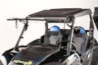 Extreme Metal Products, LLC - Flip Up windshield for RZR 2014-2018 XP1K, 2015-21 RZR 900, and 2016-18 RZR 1000-S