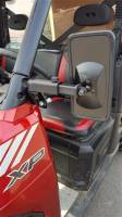 Polaris Ranger Smack Back Mirrors for PRO-FIT Cages  Set (pick your mirror size)