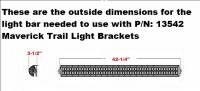 "Extreme Metal Products, LLC - Maverick Trail 40"" LED Light Bar Bracket Set - Image 2"