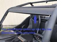 Extreme Metal Products, LLC - Maverick Trail and Sport Hard Coated Polycarbonte Windshield - Image 6