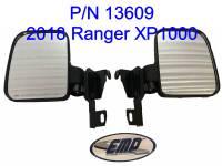 Polaris Ranger Folding Mirror set for the PRO-FIT Cage (non-round cage)